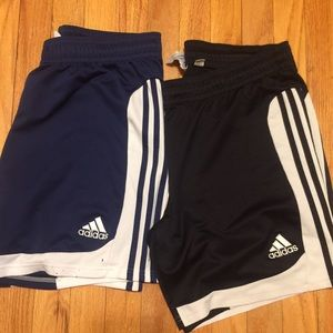 Two pairs of used men's large adidas shorts